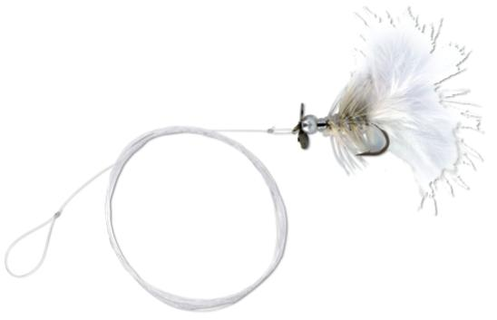 4 x Quantum Magic Trout Streamer Rig - White