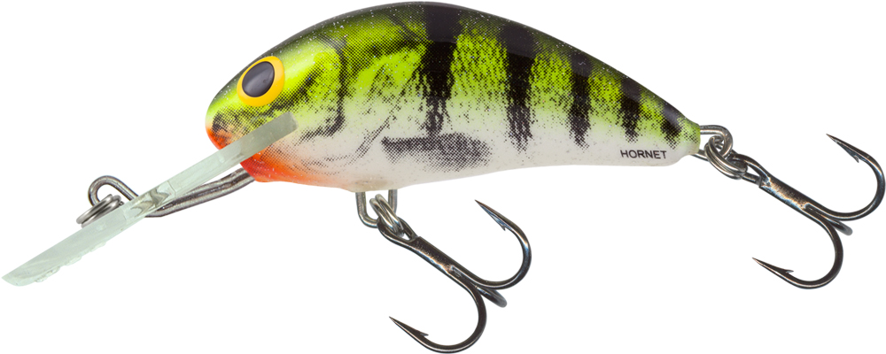 Salmo Hornet Floating 5cm - Lime Perch