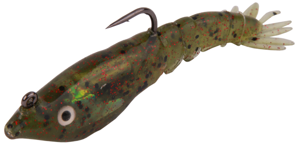 Berkley Powerbait Rattle Shrimp 3 stuks! (Keuze uit 2 opties) - Watermelon Red Glitter