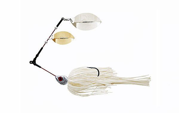 Delalande Spinnerbait Flex Trailer - Color 12 - White
