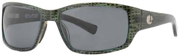 Lenz Optics Helmsdale Polarised Sunglasses (keuze uit 4 opties) - Green w/Grey Lens