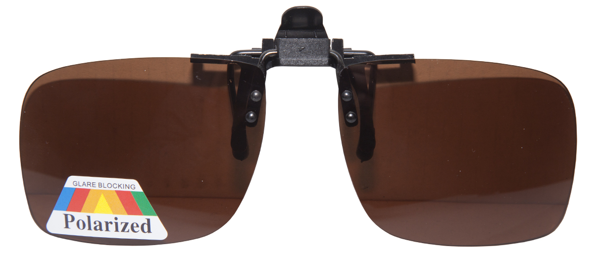 Ultimate Clip On Sunglasses - Brown