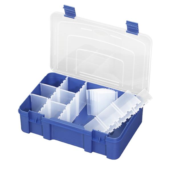 Panaro Tacklebox Blauw met Transparant deksel (keuze uit 3 opties)