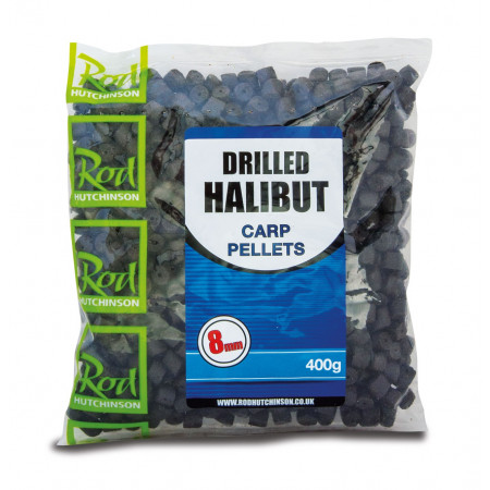 Rod Hutchinson Voorgeboorde Halibut Pellets 400g - Rod Hutchinson Voorgeboorde Halibut Pellets 8mm (400g)
