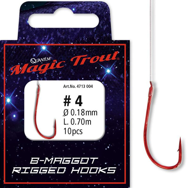 Quantum Magic Trout Maggot Rigged Hooks (Keuze uit 6 opties)
