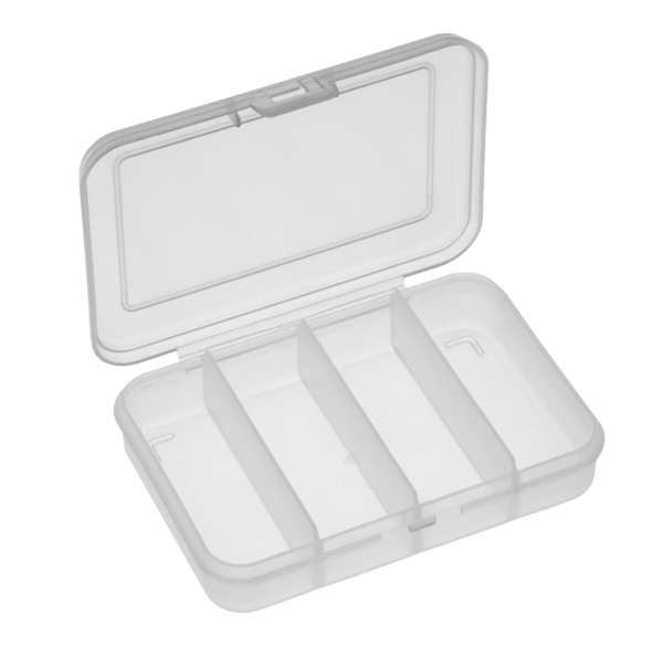 Panaro 102 Tacklebox 91x66x21mm (keuze uit 1, 4 of 6 compartimenten) - 4 Compartimenten