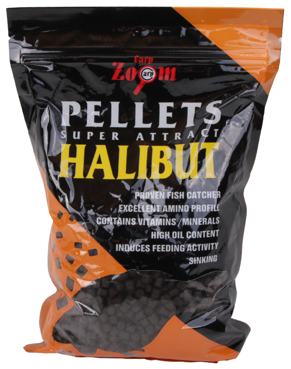 Carp Zoom Feeding Black Halibut Pellets 800gr (keuze uit 7 opties)
