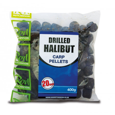 Rod Hutchinson Voorgeboorde Halibut Pellets 400g - Rod Hutchinson Voorgeboorde Halibut Pellets 20mm (400g)