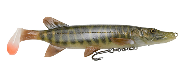 Savage Gear 4D Pike Shad (meerdere opties) - Striped Pike