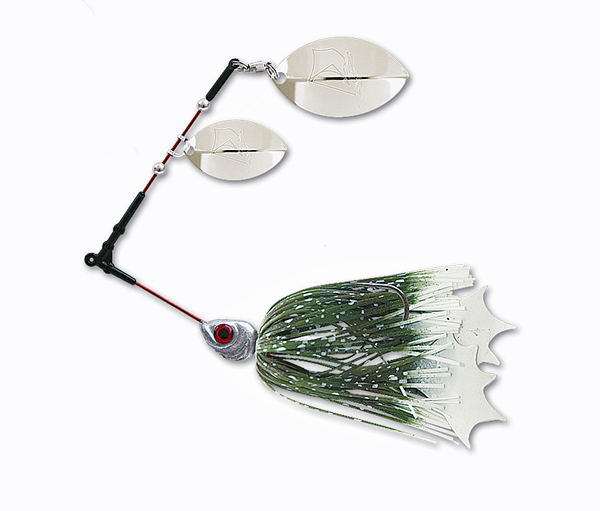 Delalande Spinnerbait Flex Frog - Color 9 - Groen/wit