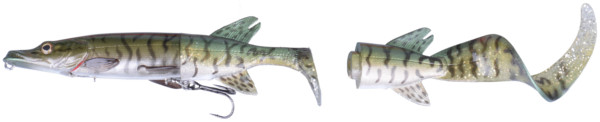 Savage Gear 3D Hybrid Pike 17 & 25cm - Green Silver Pike