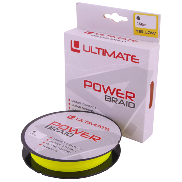 Ultimate Clever Jerkbait Set - Ultimate Power Braid 0.28mm 17kg 150m Yellow gevlochten lijn