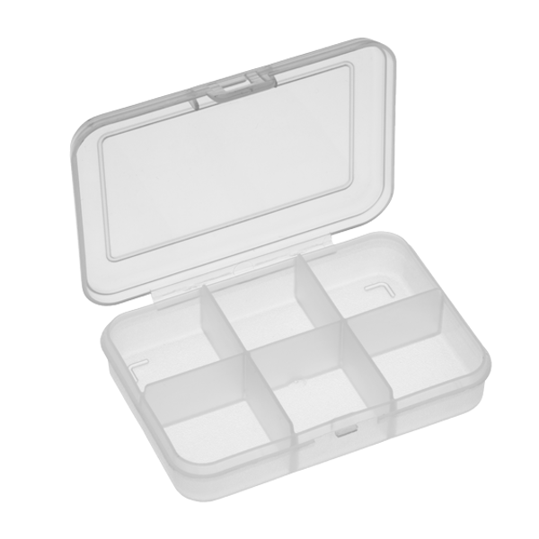 Panaro 102 Tacklebox 91x66x21mm (keuze uit 1, 4 of 6 compartimenten) - 6 Compartimenten