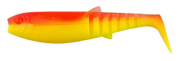 10x Savage Gear Cannibal Shad 8cm (keuze uit 3 opties) - YR Fluo