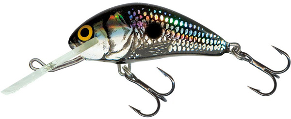 SUPERDEAL! Salmo Hornet 6cm Floating (keuze uit 9 opties) - Black Silver Shad (BSS)