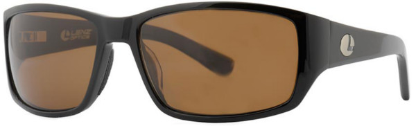 Lenz Optics Helmsdale Polarised Sunglasses (keuze uit 4 opties) - Black w/Brown Lens