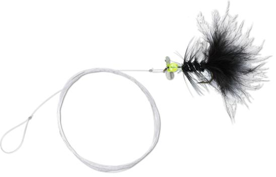 4 x Quantum Magic Trout Streamer Rig (Keuze uit 6 opties) - Black/Yellow