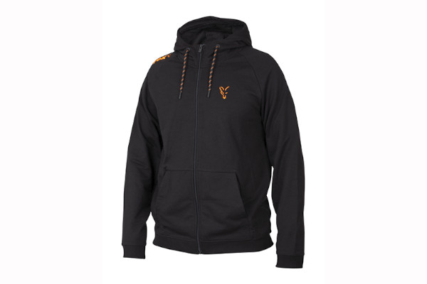 Fox Collection Black Orange Lightweight Hoodie (Beschikbaar in maat S tem XXXL)