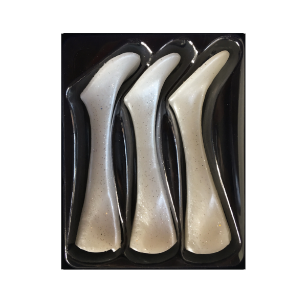 Headbanger Shad 22 Replacement tails 3 pcs (meerdere opties) - Pearl white