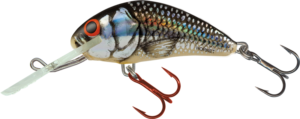 Salmo Hornet Floating 5cm - Silver Black Red