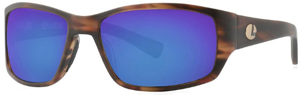 Lenz Optics Helmsdale Polarised Sunglasses (keuze uit 4 opties) - Havanna Brown w/Blue Mirror