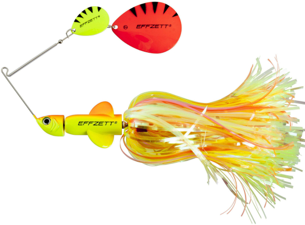 Effzett Pike Rattlin' Spinnerbait - Fluo Yellow/Orange