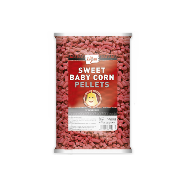 Carp Zoom Sweet Baby Corn Pellets (keuze uit 3 opties) - Sweet Baby Corn Pellets Strawberry