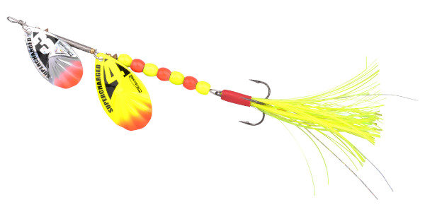 Spro Supercharged Tandem Spinner 20cm (keuze uit 6 opties) - Yellow Weighted