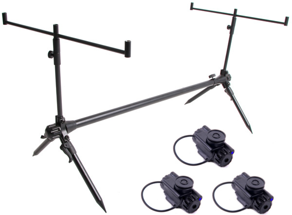 Ultimate Compact Rod Pod + 3 NGT Clip On Bite Alarms