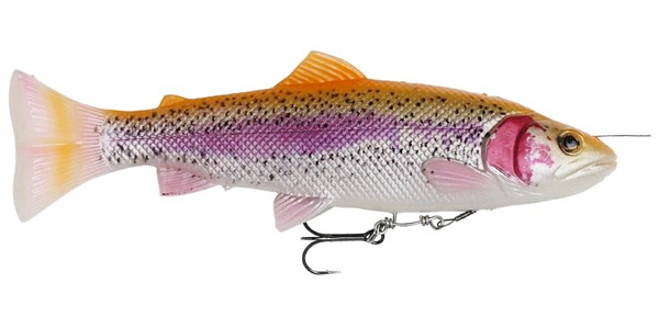 Savage Gear 4D Line Thru Pulse Tail Trout 16cm 51g SS - Albino Trout