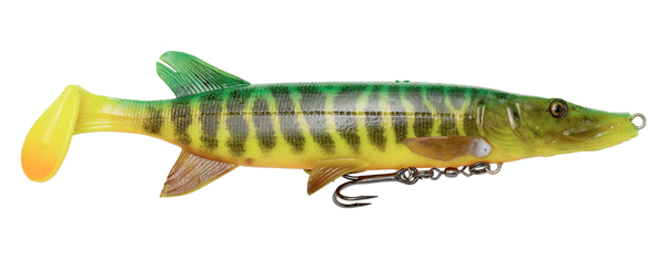 Savage Gear 4D Pike Shad (meerdere opties) - Fire Tiger