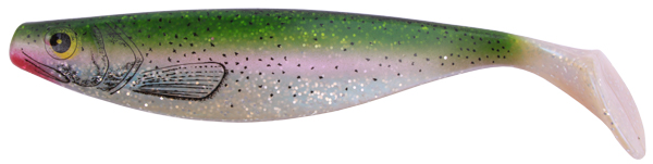 "ShadXperts Xtra Soft Nature 9"" (keuze uit 3 opties) - Bluepearl / Rainbowtrout"