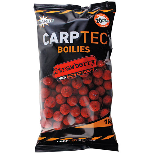 1kg Dynamite Baits CarpTec Boilies - Strawberry