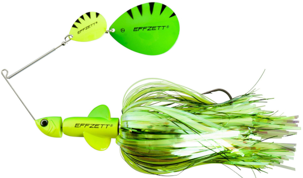 Effzett Pike Rattlin' Spinnerbait - Fluo Yellow/Green