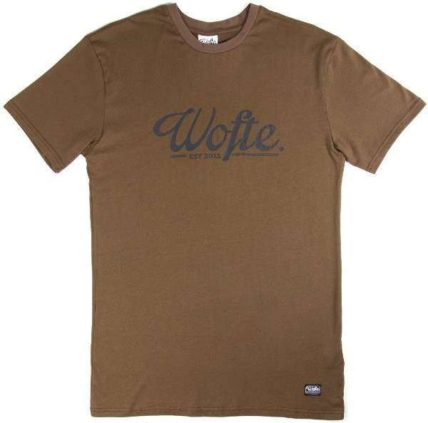 Wofte Est.11 T-Shirt - Brown: