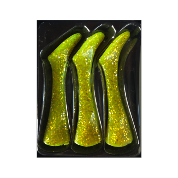 Headbanger Shad 22 Replacement tails 3 pcs (meerdere opties) - Chartreuse