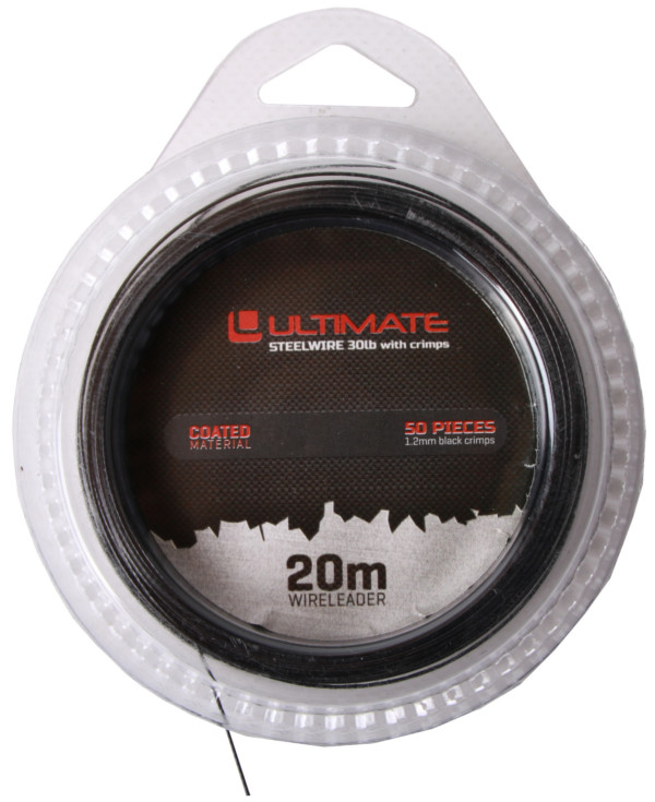 Ultimate Gecoat Staal & Crimps 25lbs (20m/50 crimps)