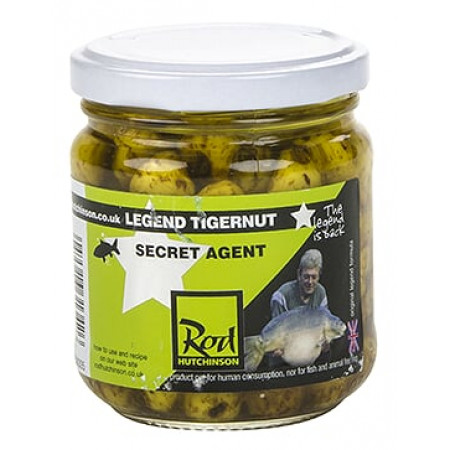 Rod Hutchinson Tigernuts Flavoured Hookbaits (keuze uit meerdere opties) - Secret Agent (Yellow)
