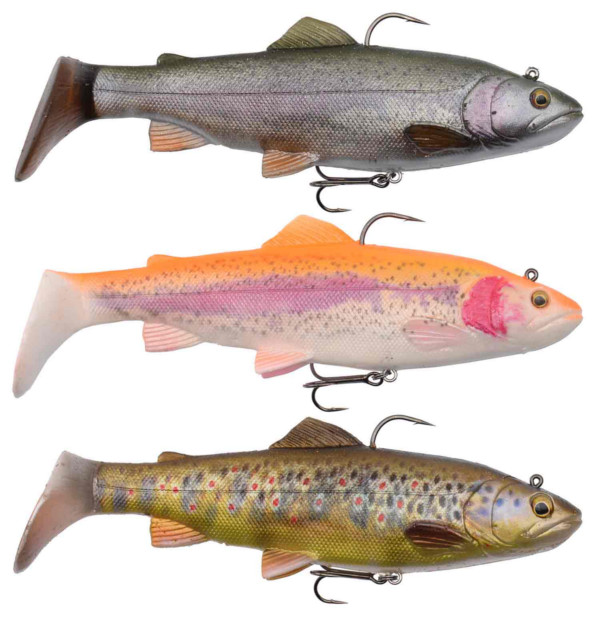Savage Gear 4D Rattle Trout 12,5cm 35gr MS + Salmo Lure Surprise (keuze uit 3 opties) - Vbnb: Rainbow, Golden Albino, Dark Brown Trout