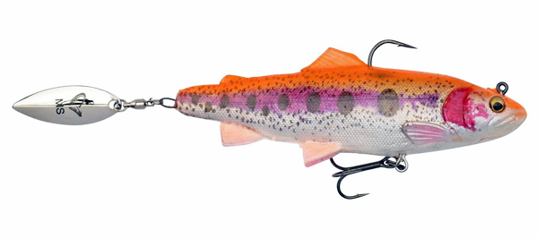 Savage Gear 4D Trout Spin Shad - Golden Albino