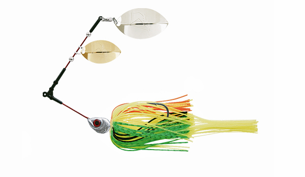 Delalande Spinnerbait Flex Trailer - Color 13 - Yellow/green